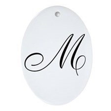 M's Ornament (Oval)