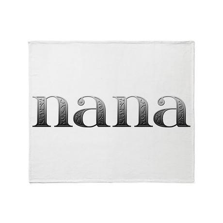Nana Carved Metal Throw Blanket