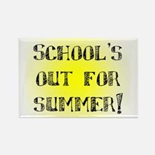 School's Out for Summer Rectangle Magnet