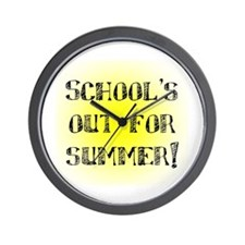 School's Out for Summer Wall Clock