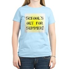 School's Out for Summer Women's Pink T-Shirt