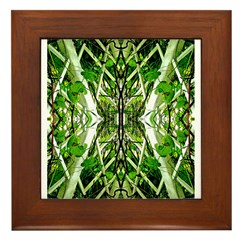 Garden Trellis Framed Tile