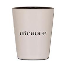 Nichole Carved Metal Shot Glass