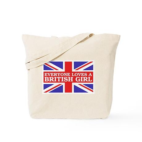 Everyone Loves a British Girl Tote Bag