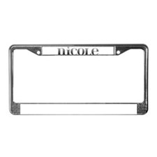 Nicole Carved Metal License Plate Frame