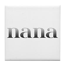 Nana Carved Metal Tile Coaster