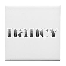 Nancy Carved Metal Tile Coaster