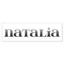 Natalia Carved Metal Bumper Bumper Sticker