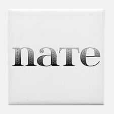 Nate Carved Metal Tile Coaster