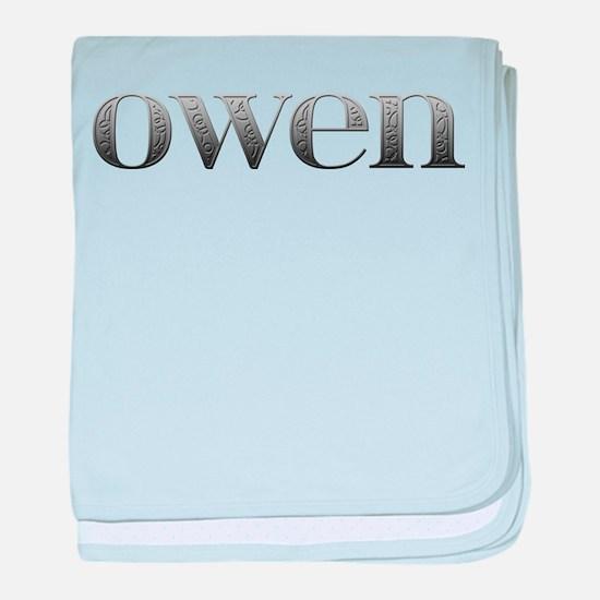 Owen Carved Metal baby blanket
