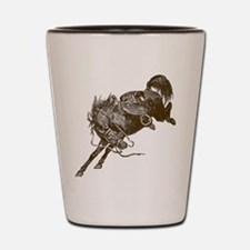 Bucking Bronco Western Shot Glass