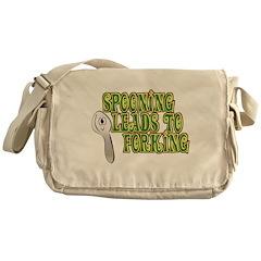 Spooning Leads To Forking! Messenger Bag