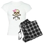 Skull and Crossbones with Pin Women's Light Pajama