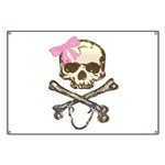 Skull and Crossbones with Pin Banner