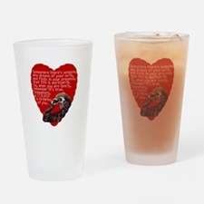 Stalker Anti-Valentine Drinking Glass