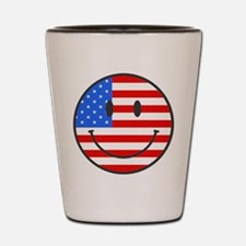 Smiley Face Fourth Of July Shot Glass