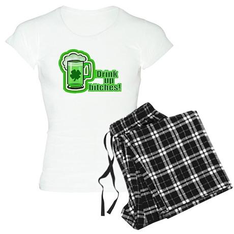 Drink Up The Green Beer Women's Light Pajamas