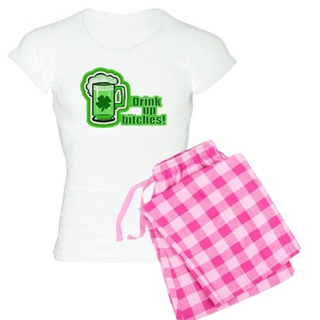 Drink Up The Green Beer Women's Light Pajamas