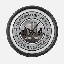 September 11 Anniversary Large Wall Clock