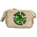 Rock Out With Your Shamrock Out Messenger Bag