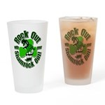 Rock Out With Your Shamrock Out Drinking Glass