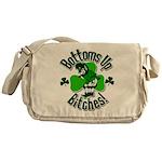 Bottoms Up Bitches Leprechaun Messenger Bag
