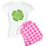 Vintage Lucky 4-leaf Clover Women's Light Pajamas