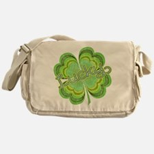 Vintage Lucky 4-leaf Clover Messenger Bag