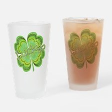 Vintage Lucky 4-leaf Clover Drinking Glass