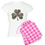Shamrock Skulls Women's Light Pajamas
