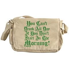 Irish Drinking Humor Messenger Bag