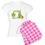 Happy St Patrick's Day Rainbo Women's Light Pajama