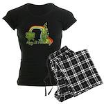 Happy St Patrick's Day Rainbo Women's Dark Pajamas