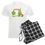Happy St Patrick's Day Rainbo Men's Light Pajamas