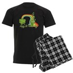 Happy St Patrick's Day Rainbo Men's Dark Pajamas