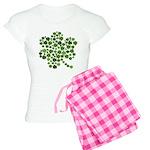 Shamrocks in a Shamrock Women's Light Pajamas