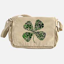 Infinite Luck Four Leaf Clove Messenger Bag