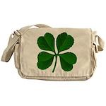 Lucky Four Leaf Clover Messenger Bag