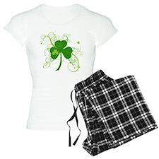 Fancy Saint Pats Shamrock Pajamas