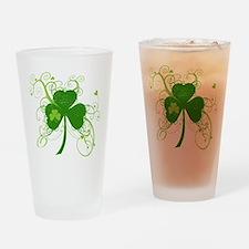 Fancy Saint Pats Shamrock Drinking Glass