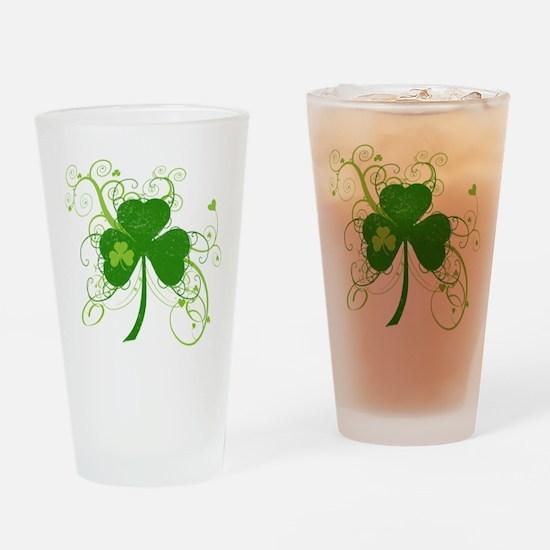 St Paddys Day Fancy Shamrock Drinking Glass