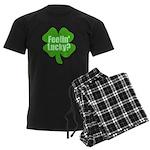 Feelin Lucky? Funny St. Patri Men's Dark Pajamas