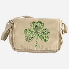 St Paddys Day Shamrock Messenger Bag