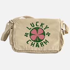 Green / Pink Lucky Charm Messenger Bag