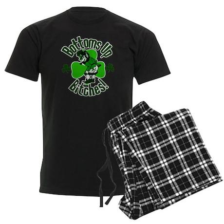 Bottoms Up Bitches! Men's Dark Pajamas
