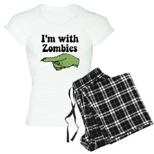 I'm With Zombies Pajamas
