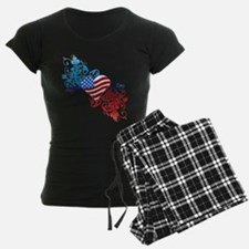 Independence Day Heart Scroll Pajamas