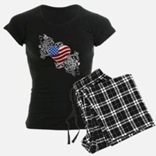 Independence Day Flag Heart Pajamas