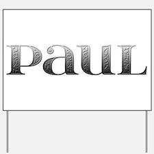 Paul Carved Metal Yard Sign