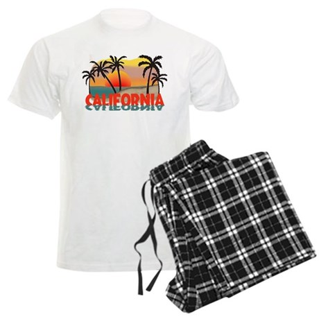 California Beaches Sunset Men's Light Pajamas